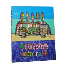Classeur 4 anneaux rigide California Dreaming 34*27