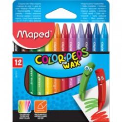 Boîte de 12 Crayons à Cire Maped 9 cm