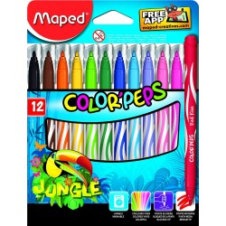 12 Feutres de coloriage Maped Jungle
