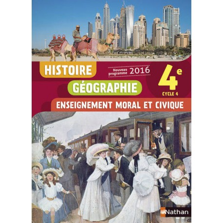 Histoire Geographie Emc 4e 2016 Nathan