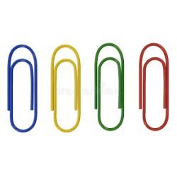 Boite de 100 Trombones plastifiées 25 mm Express