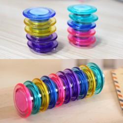 Pochette de 10 aimants 30 mm couleurs