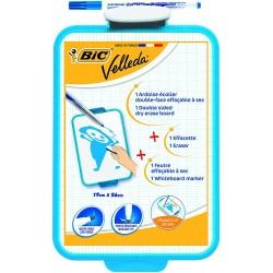 Ardoise Blanche Bic Velleda + 1 Feutre Bleu + 1 Effacette