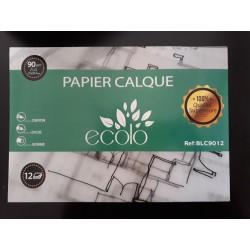 Pochette de 12 papiers calque Ecolo 90g