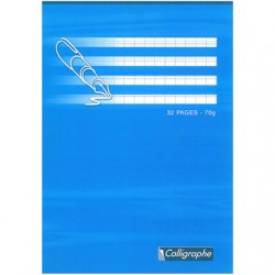 CAHIER ECRITURE CALLIGRAPHE 32P A5 DL/2MM 70GR