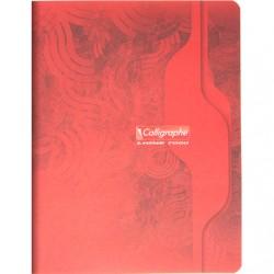 Cahier Calligraphe 140 p. / 80 feuilles - 17x22 - 70g piquées - Grands Carreaux