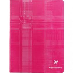 Cahier Clairefontaine 144 pages - 17x22 - Piqué- 90g - Grands carreaux