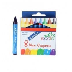 Boite de 8 gros crayons cire Ecolo