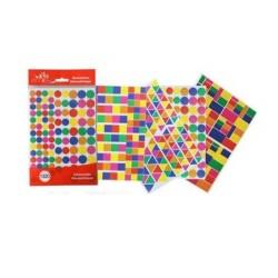 Paquet de 1320 Gommettes Géometriques Ecolo