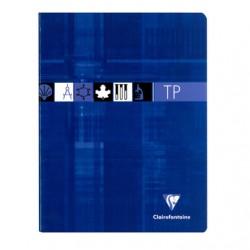 Cahier TP Clairefontaine 80 pages - 17*22 - 90 / 125 g - Piqué - Grands Carreaux
