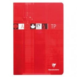 Cahier TP Clairefontaine 96 pages - A4 - 90 / 125 g - Piqué - Grands Carreaux