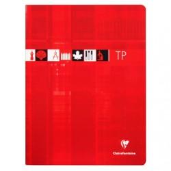 Cahier TP Clairefontaine 120 pages - 24*32 - 90 / 125 g - Piqué - Grands Carreaux