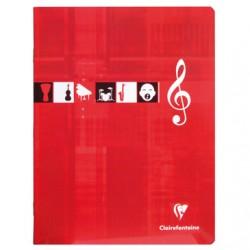 Cahier de Musique Clairefontaine 56 pages - 17*22 - 90g - Piqué - Grands Carreaux