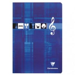 Cahier de Musique Clairefontaine 48 pages - A4 - 90g - Piqué - Grands Carreaux
