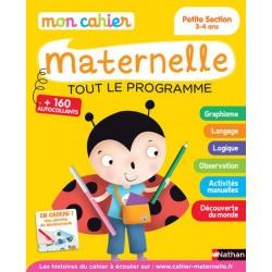 Mon cahier maternelle - PS - 3/4 ans - Tout le programme - 2015 - Nathan