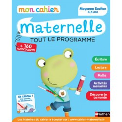 Mon cahier maternelle - MS - 4/5 ans - Tout le programme - 2015 - Nathan