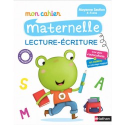 Mon cahier maternelle - MS - Lecture - Ecriture- 2016 - Nathan